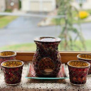 ❤️🌟Yankee Mosaic Red Gold 6pcs Candle set ❤️🌟
